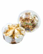 Пломбир в креманке ванильный с вареной сгущенкой и арахисом